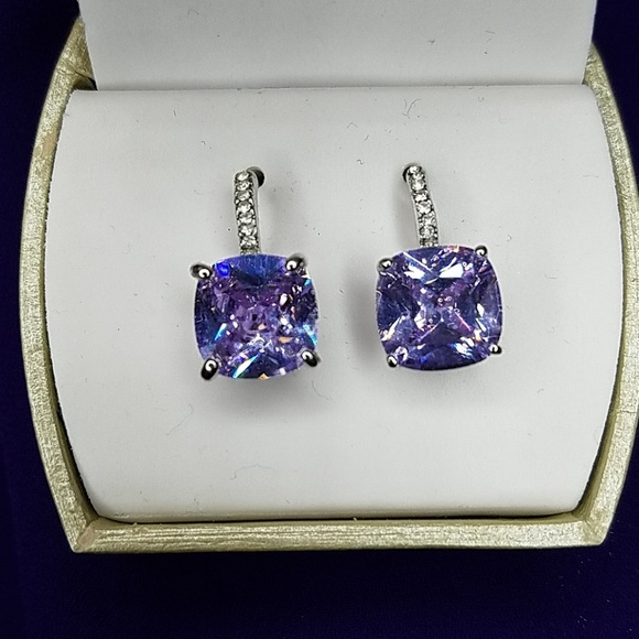 "Jewelry - ""Amethyst"" and CZ Earrings"